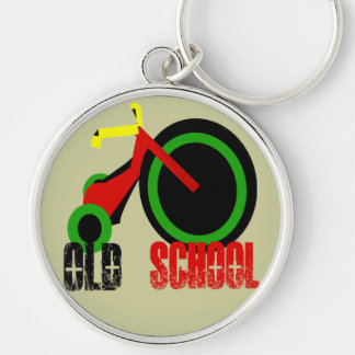 Old School - Change background colors Key Ring