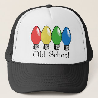 Old School Christmas Tree Lights Trucker Hat