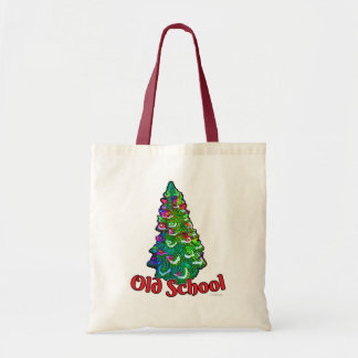 Old School Christmas Tree Slogan Tote Bag