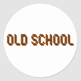 Old School Classic Round Sticker