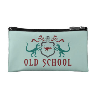 Old School Color Dinosaur Makeup Bag