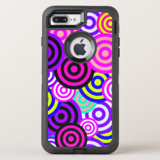 Old School Colored Circles OtterBox Defender iPhone 8 Plus/7 Plus Case