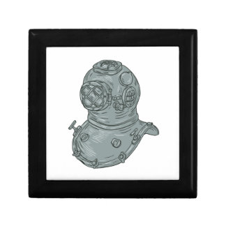 Old School Diving Helmet Drawing Gift Box