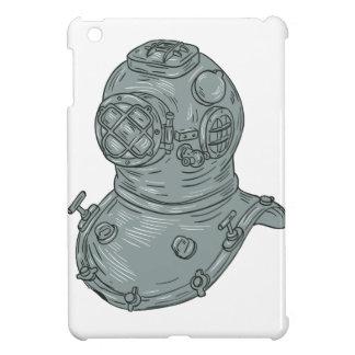 Old School Diving Helmet Drawing iPad Mini Case