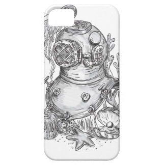 Old School Diving Helmet Tattoo Barely There iPhone 5 Case