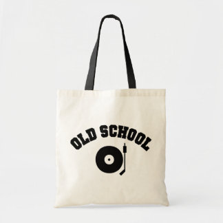 Old School DJ Record Player Budget Tote Bag