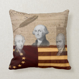 OLD SCHOOL FOUNDING FATHERS THROW PILLOW