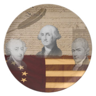 OLD SCHOOL FOUNDING FATHERS PARTY PLATES
