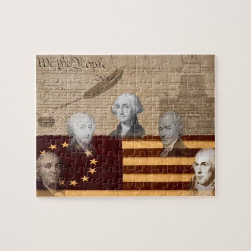 OLD SCHOOL FOUNDING FATHERS JIGSAW PUZZLE