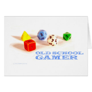 Old School Gamer • Blank Card