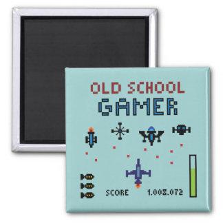 Old School Gamer - Spaceship - Magnet