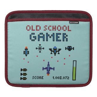 Old School Gamer - Spaceship - Rickshaw Sleeve iPad Sleeves