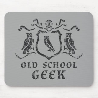 Old School Geek Owl Mousepad