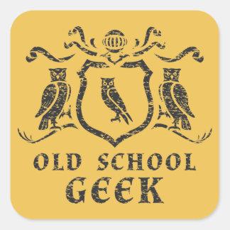 Old School Geek Owl Sticker