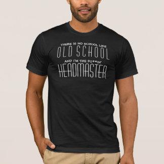 Old School Headmaster - Cool Black Shirt for Men
