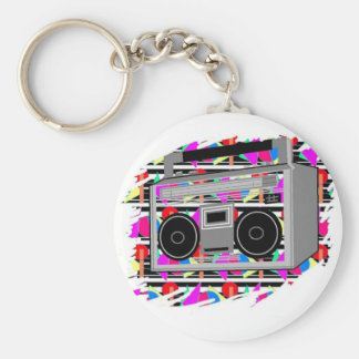 old school hip hop stereo RETRO 1980s boombox Key Ring