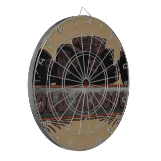 Old School Hot Rod Dartboard