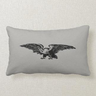 Old school illustration Bald Eagle Pillows