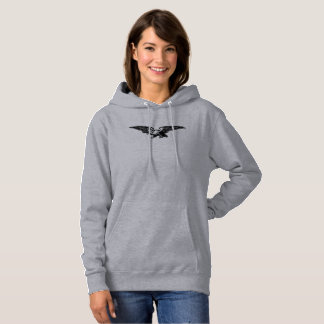 Old school illustration Bald Eagle Women's Hoodies