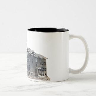 Old School in Munising Two-Tone Coffee Mug