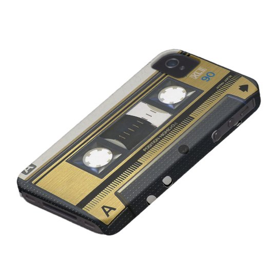 OLD SCHOOL IPHONE 4/4S CASSETTE CASE COVER RETRO 1