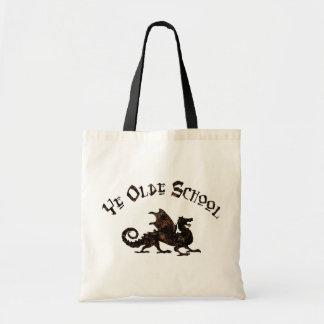 Old School - Medieval Dragon King Arthur Knights Tote Bag
