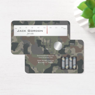 145+ Camouflage Business Cards and Camouflage Business Card ...