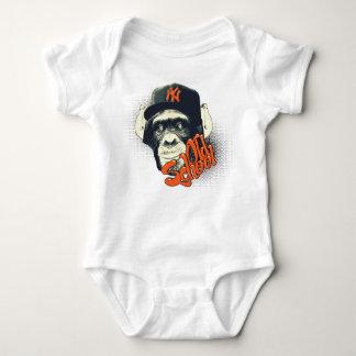 Old school monkey infant creeper