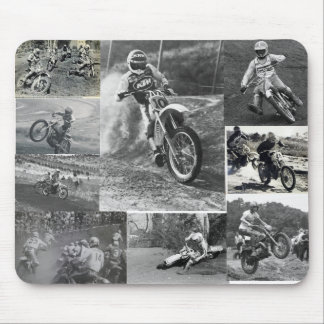 Old School Motocross Mouse Pad