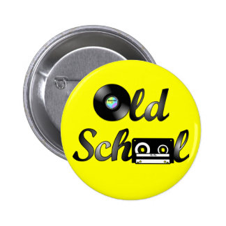 Old School Music Media Round (Yellow) 6 Cm Round Badge
