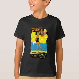 Old-School Myrtle Beach Postcard T-Shirt