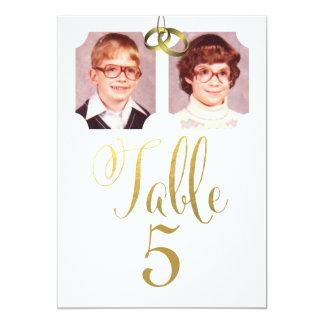 Old School Photos Wedding Table Number Cards 13 Cm X 18 Cm Invitation Card