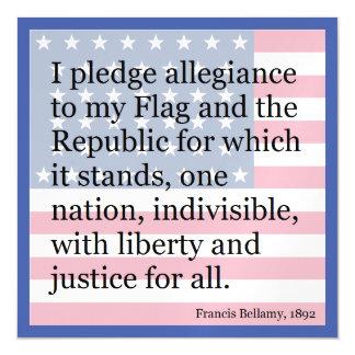 old school pledge of allegiance magnetic invitations
