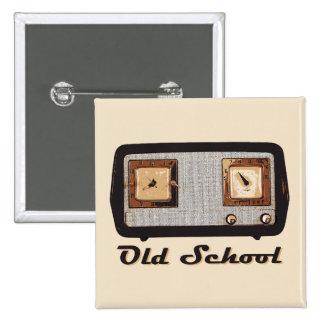 Old School Radio Retro Vintage Pinback Buttons