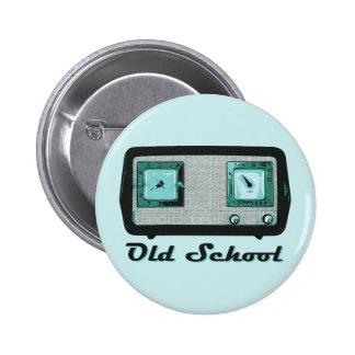 Old School Radio Retro Vintage Buttons