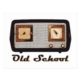 Old School Radio Retro Vintage Postcards