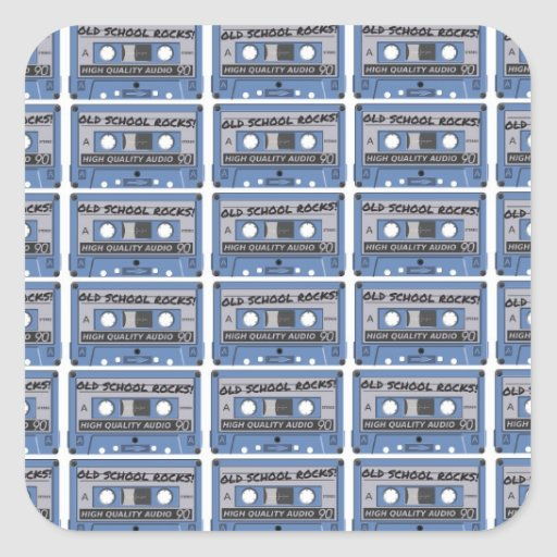 Old School Rocks Cassette Tapes Sticker