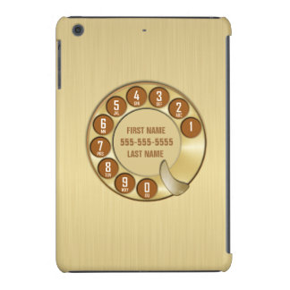 Old School Rotary Dial Phone Gold iPad Mini Cases
