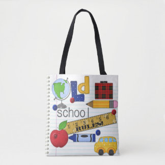 """Old School Rules"" Teacher or Student Tote Bag"