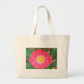 Old School Salmon colored rose Large Tote Bag