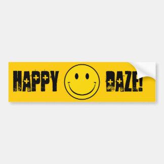 Old School Smiley Bumper Sticker