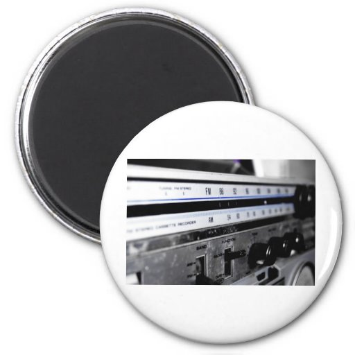 Old School Stereo Fridge Magnets