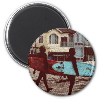 Old School Surfers Magnet
