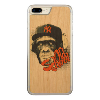 Old school swag monkey carved iPhone 7 plus case