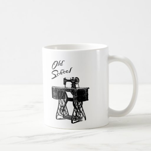 Old School Treadle Sewing Machine Mug