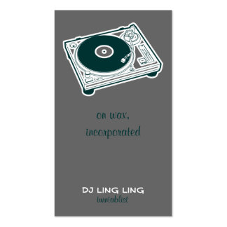 Old School Turntable Double-Sided Standard Business Cards (Pack Of 100)