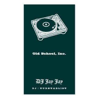 Old School Turntable Pack Of Standard Business Cards