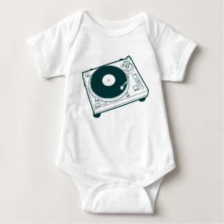 Old School Wax / Turntable Baby Bodysuit