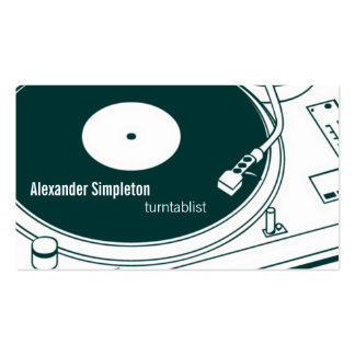 Old School Wax / Turntable Double-Sided Standard Business Cards (Pack Of 100)