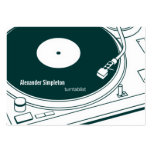 Old School Wax / Turntable Large Business Cards (Pack Of 100)